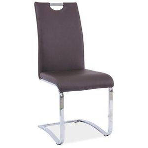 Escanaba stol - Brun/krom