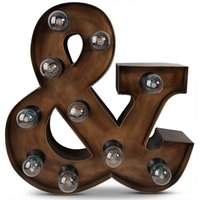 Cirkuslampa (&) H40 cm - Rusty