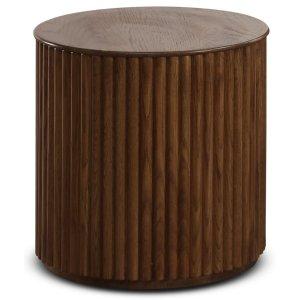 Cylinder sidobord 40 cm - Valnöt