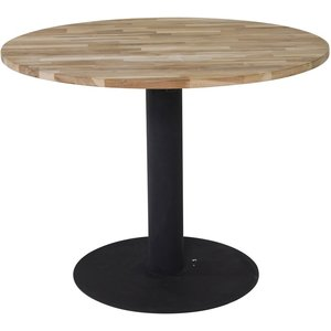 Matbord Regald ø140 cm - Svart / Naturträ