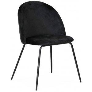 Plaza velvet stol - Svart sammet