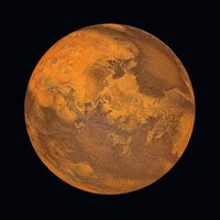 Glastavla The Planet of Mars - 80x80 cm