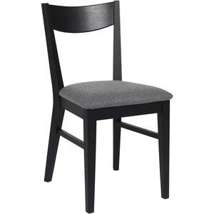 Kinley stol - Svartbetsad ek/ljusgrå