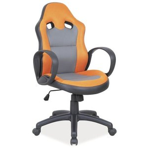Kontorsstol Lesly - Svart/orange