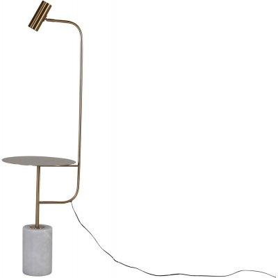 Malsta bordslampa - Vit marmor/koppar