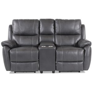 Enjoy Hollywood Biosoffa - 2-sits recliner (el) i grått konstskinn