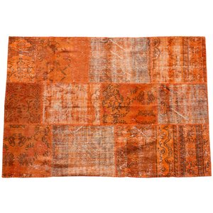 Äkta Patchwork matta Persia - Orange