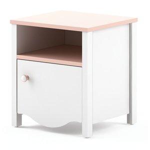 Letitia sängbord - Vit/rosa & 790.00