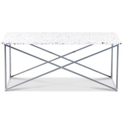 Terrazzo soffbord 110x60 cm - Cosmos Terrazzo & underrede Paladium krom