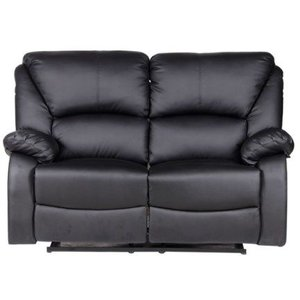 Peoria recliner-soffa 2 sits - Svart