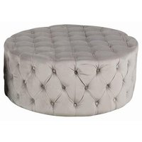 Chesterfield New York sittpuff 100 cm - Beige Sammet