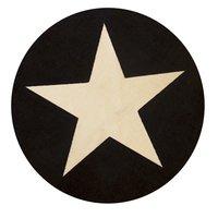 Barnmatta Gummerad Star - Svart