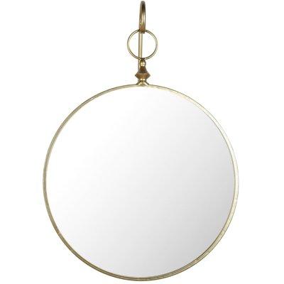 Hängande spegel - Antik mässing