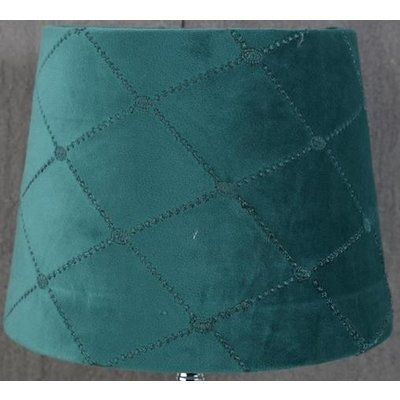 Velvet Diamond lampskärm 23 cm - Turkose