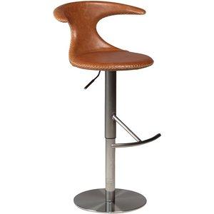 Flair barstol - Ljusbrun läder