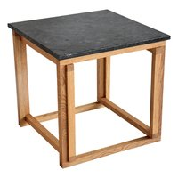 Accent soffbord 50 - Svart granit / Oljad ek