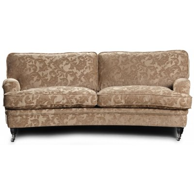 Howard Sir William svängd soffa (Dun) - Mobus Darkbeige Floral
