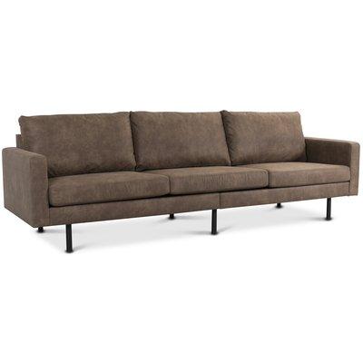 Chicago 4-sits soffa 280 cm - Brun vintage (microfiber)