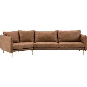 Shiny svängd 4-sits soffa - Valfri färg!