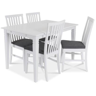 Sandhamn matgrupp 120 cm bord med 4 sandhamn stolar
