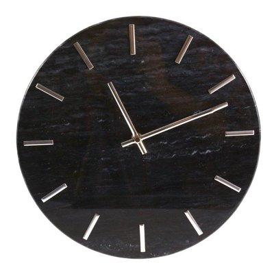 Väggklocka Timeless - Svart/krom