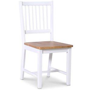 Nybro stol - Ekbetsad/vit