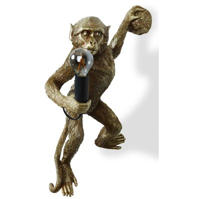 Monkey Vägglampa - Guld