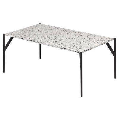 Terrazzo soffbord 110x60 cm - Cosmo Terrazzo & underrede AIR i svart metall