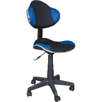 Carla skrivbordsstol - Blå/svart