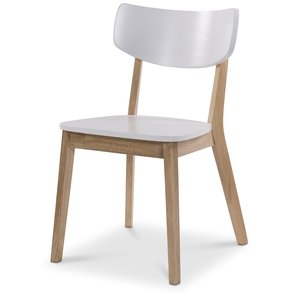 Nordkap stol - Vit / Ljus ek