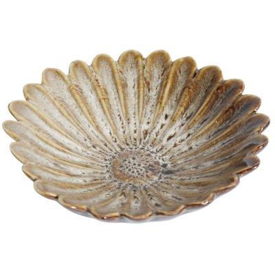 Blomster prydnadsfat - Keramik (Ljusbrun)
