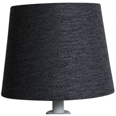 Rund lampskärm 18x23x18 cm - Grå (grovt linne)