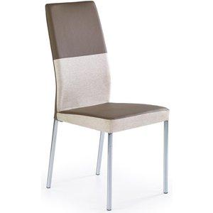 Stol Hedda - Beige/ljusbrun/Krom