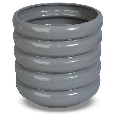 Kruka Wheels H18 cm - Grå
