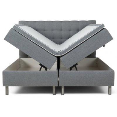 Viking Boxbed (säng med förvaring) 160x200cm - Grå
