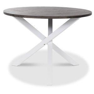 Skagen runt matbord - Vit/brun