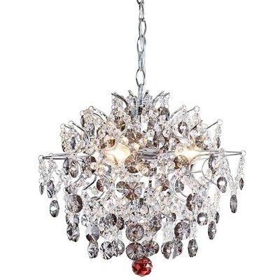 Hidden Gem kristal krona 40 cm - Krom/klar/rökfärg
