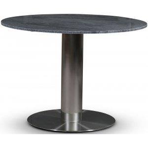 SOHO matbord Ø105 cm - Borstat aluminium / Grå marmor