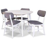 Sarek matgrupp - Bord inklusive 4 st stolar - Vit