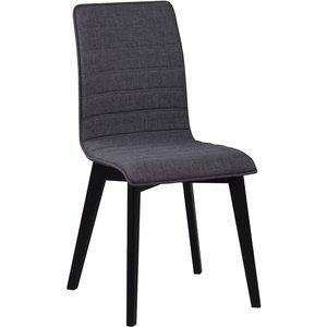 Aniyah stol - Mörkgrå/svartbetsad ek