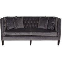 3-sits soffa Fifth Avenue - Grå sammet