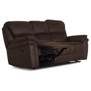 Cinema reclinersoffa - 3-sits i brunt microfibertyg