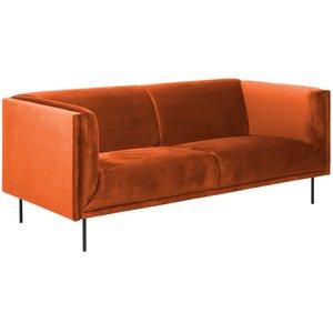 Savona 3-sits soffa - Orange velour