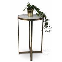 Cassandra piedestal | bord - 70 cm (marmor & mässing)