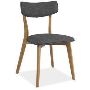 Jazlynn stol - Ek/grå