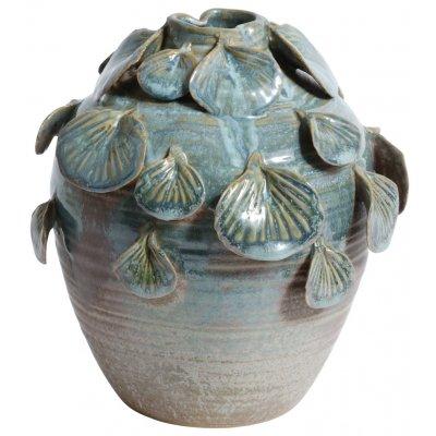 Vas Leaf H19 cm - Grön