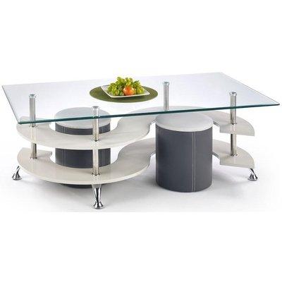 Meeting soffbord inklusive sittpuffar - Mörk grå/Grå