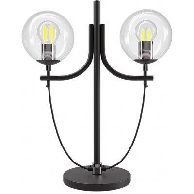 Bollia bordslampa H52 cm - Svart/Krom