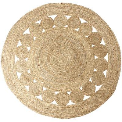 Handgjord matta Juni D150 cm - Jute