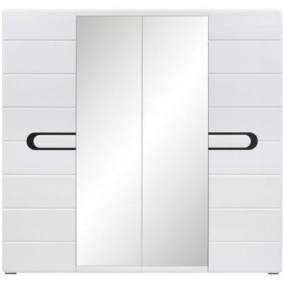 Hagfors garderob - Svart/vit